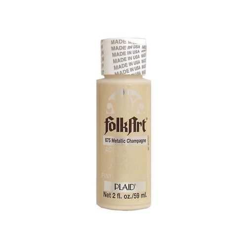 FolkArt Metallic Paint 2oz - Champagne