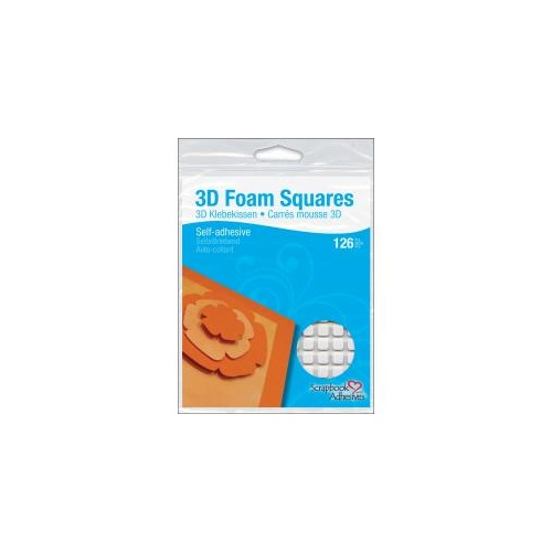3D Foam Squares Regular - White