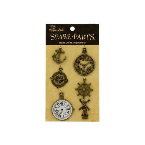 Spare-Parts - Antique Gold Nautical Charms