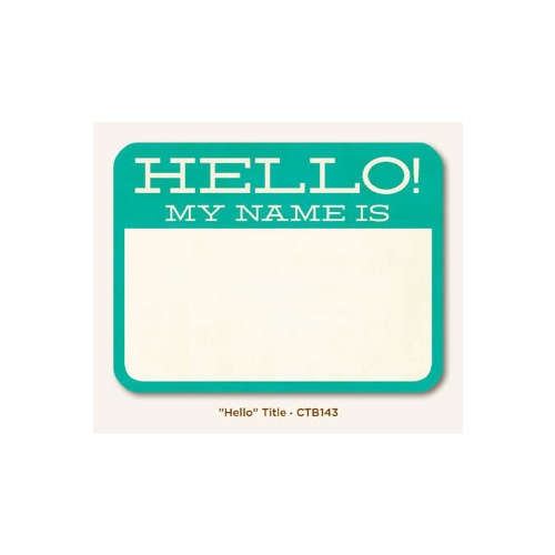 "Collectable - Memorable ""Hello"" - Title"