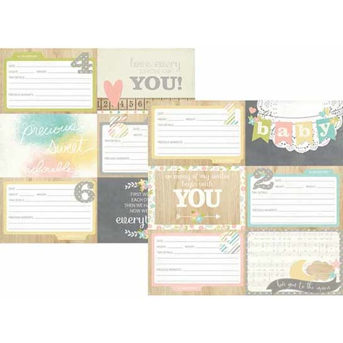 Hello Baby - 4x6 Horizontal Journaling Card Elements 1