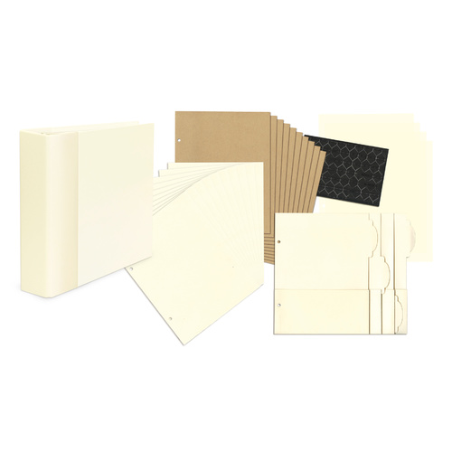 Staples - Mixed Media Album - Ivory