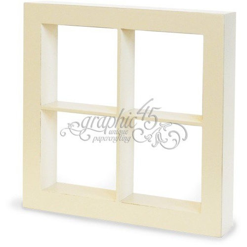 Staples - Window Shadow Box - Ivory