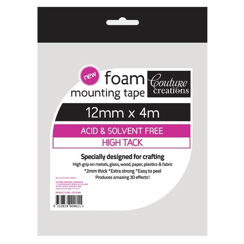 Foam Mounting Tape 12mmx4m - High Tack