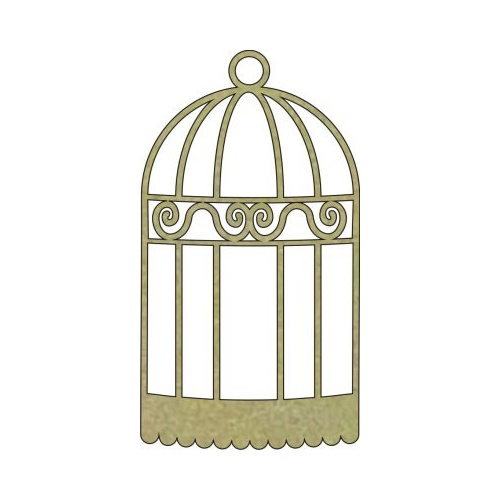 Bird Cage - Chipboard
