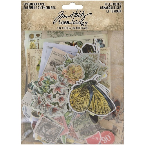 Tim Holtz - idea-ology - Ephemera Pack - Field Notes