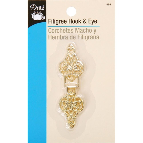 Filigree Hook & Eye - Gold