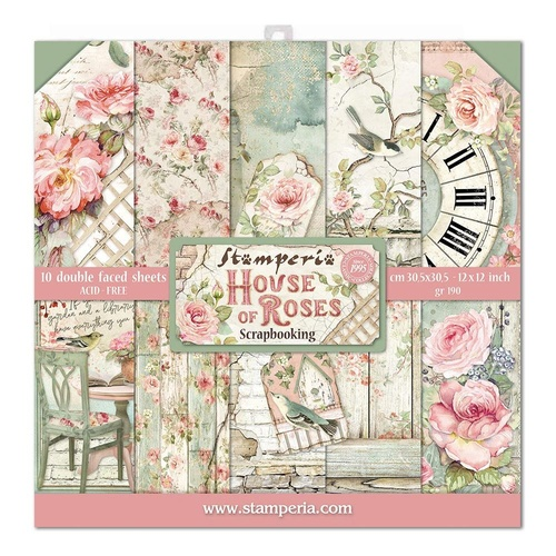 Stamperia - House of Roses - 12x12 Paper Pad