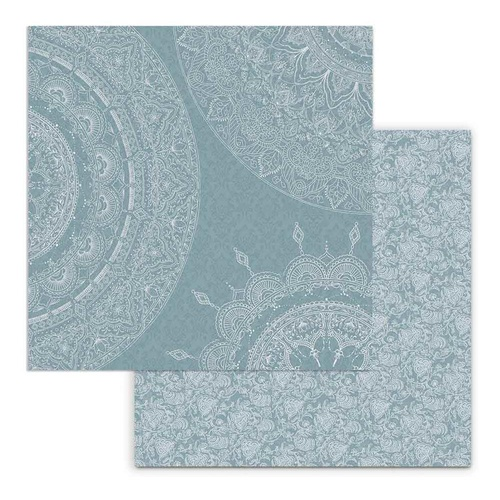 26 Secrets Of India - Mandala Sections On Light Blue