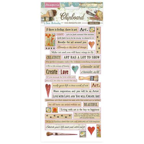 Stamperia - Atelier Quotes - Chipboard