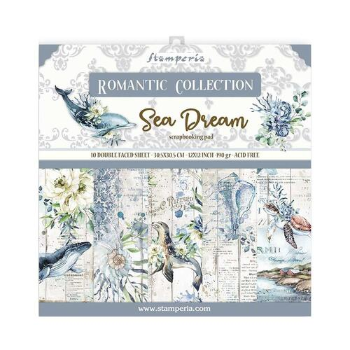 "Stamperia - Romantic ""Sea Dream"" - 12x12 Paper Pad"
