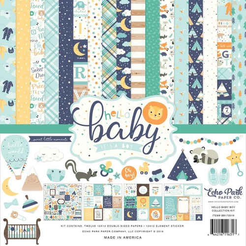 Hello Baby It's a Boy - 12x12 Collection Kit
