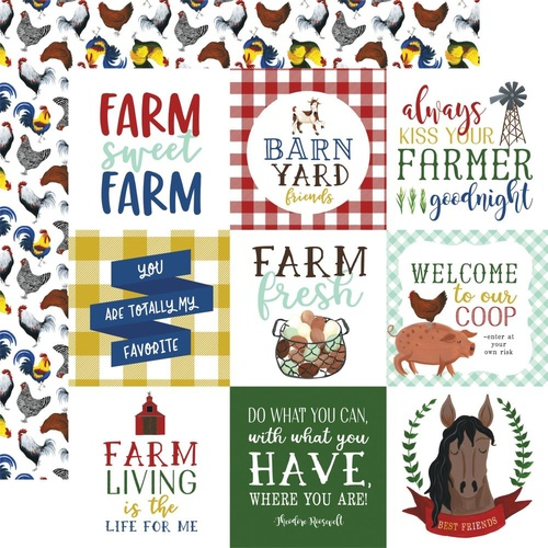 Down on the Farm - 4x4 Journaling Cards