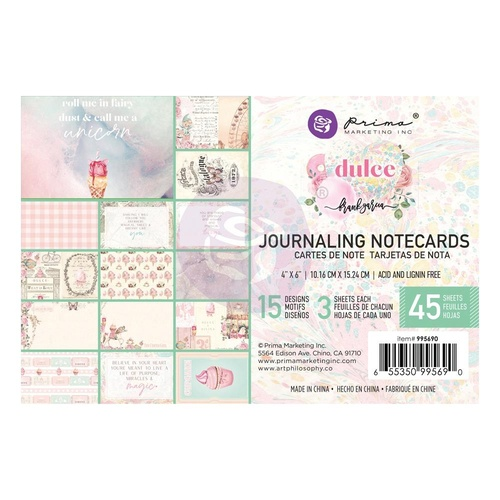 Dulce - 4x6 Journaling Cards
