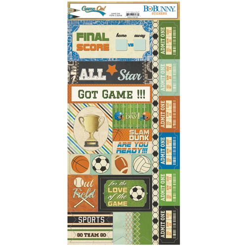 Game On - Cardstock Stickers
