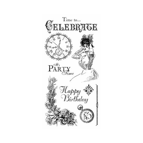 Time to Celebrate - Cling Stamp 1