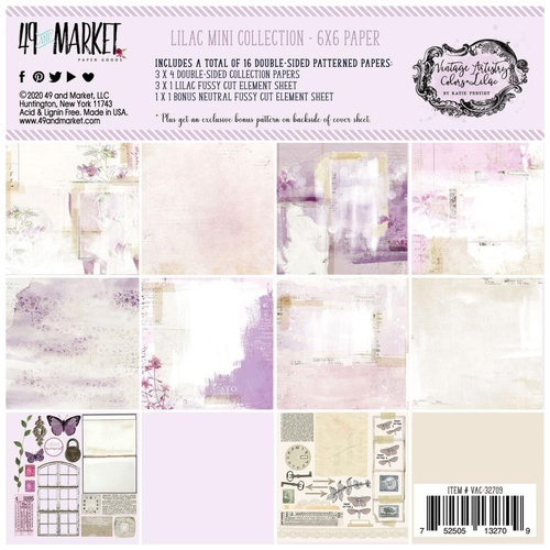 49 and Market - Vintage Artistry Lilac - 6x6 Paper Collection