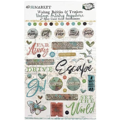 49 And Market - Vintage Artistry Anywhere - Wishing Bubbles & Trinkets