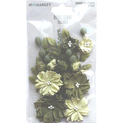 49 and Market - Royal Spray – Olive Paper Flowers
