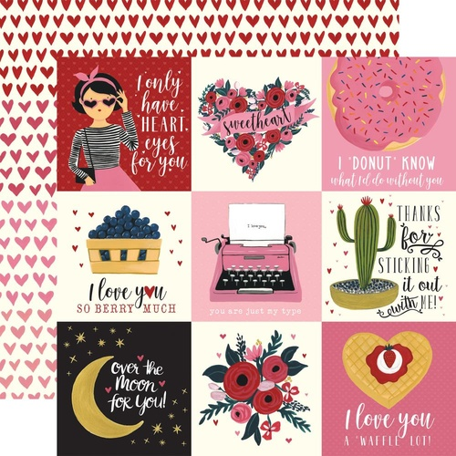 Hello Sweetheart - 4x4 Journaling Cards