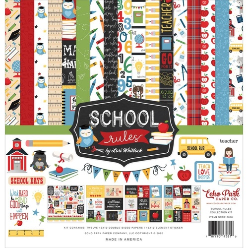 School Rules - 12x12 Collection Kit