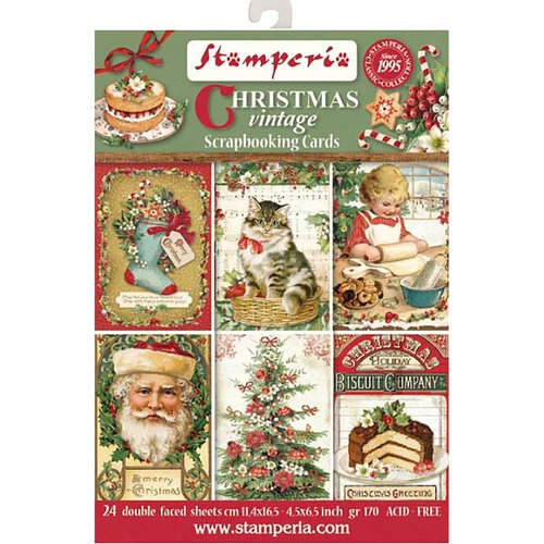 Christmas Vintage -  Scrapbooking Cards