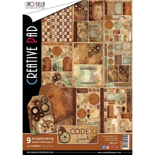 **Ciao Bella - Codex - A4 Paper Pad (9pk)