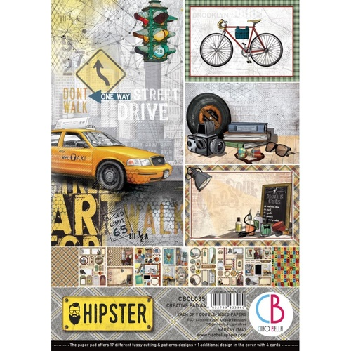 Ciao Bella - Hipster - A4 Paper Pad (9pk)