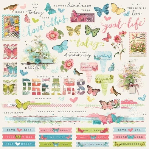 Simple Vintage Botanicals - 12x12 Combo Stickers
