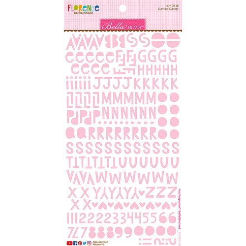 Bella Blvd - Florence Alphabet Stickers - Cotton Candy