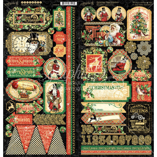 Graphic 45 - Christmas Time - 6x12 Stickers