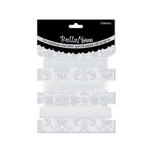 Bella! Wedding Trims - White