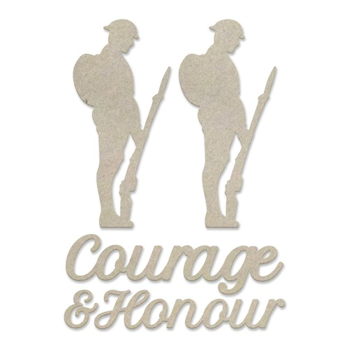 Chipboard - Lest We Forget - Courage and Honour Set (5pc)