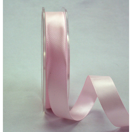 15mm Double Sided Satin Ribbon - Pale Pink