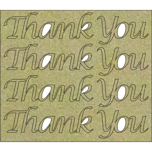 Thank You (4 per Board) - Chipboard