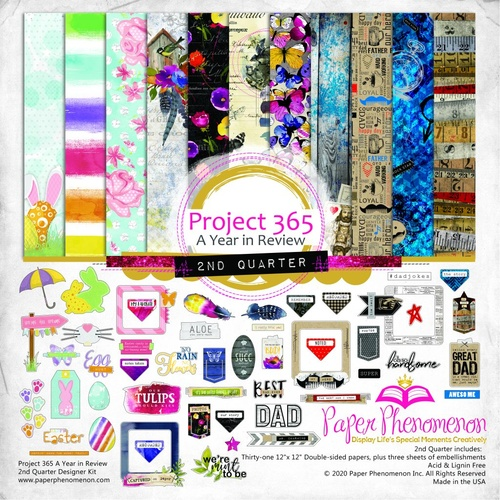 Paper Phenomenon - Project 365 A Year in Review 2nd Quarter - 12x12 Collection Pack